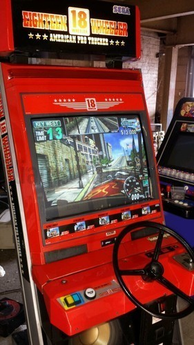 18 Wheeler Truck For Sale >> sega 18 wheeler arcade game for sale