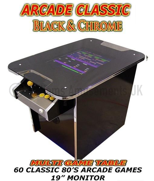 arcade table black & chrome