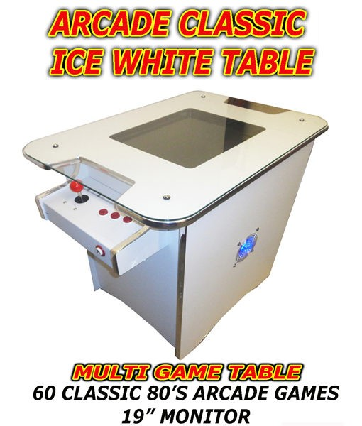 ice white arcade table usa