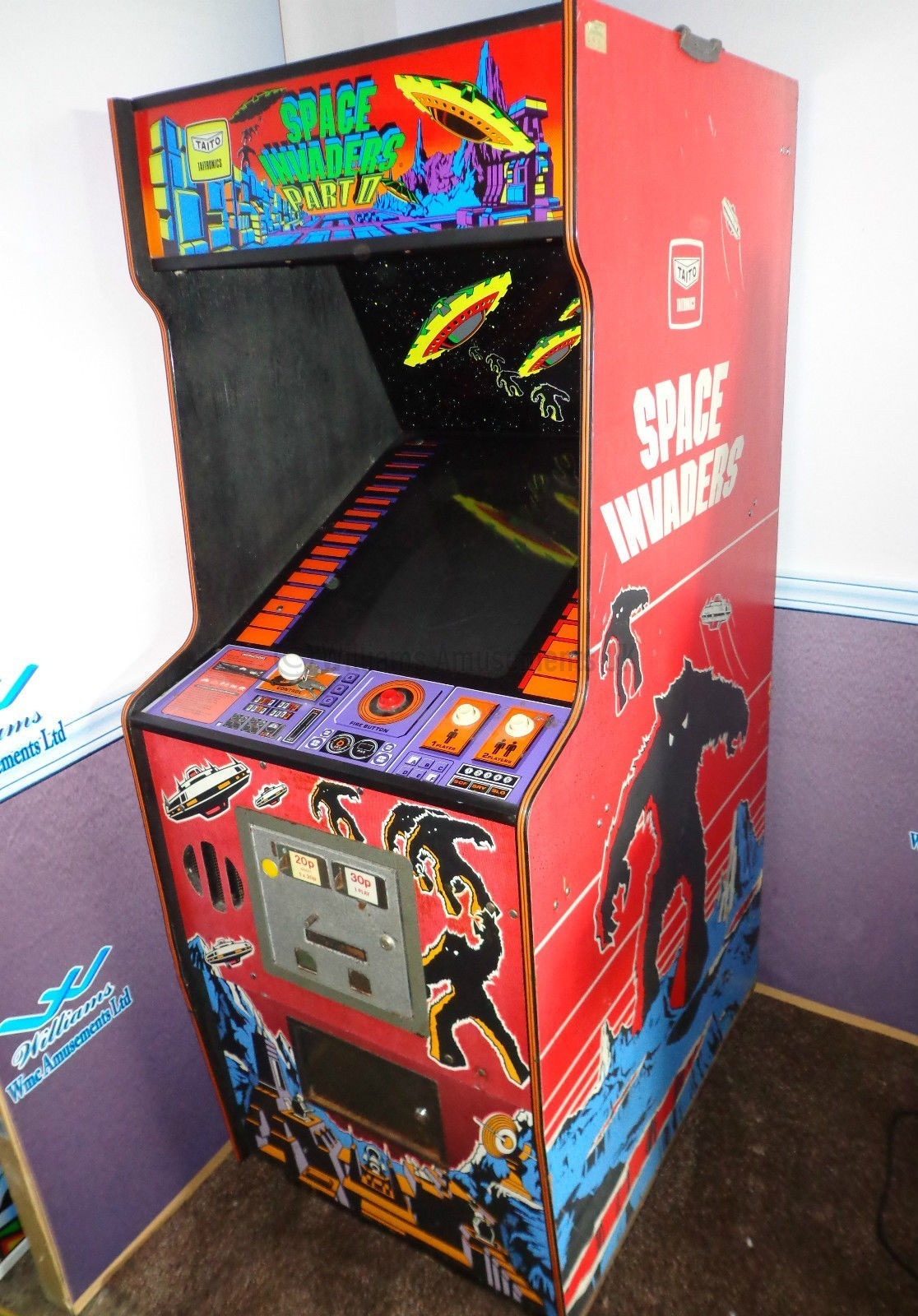 Taito Space Invaders Part 2 Williams Amusements