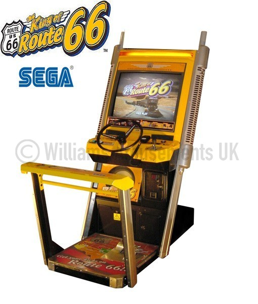 king of route 66 arcade machine