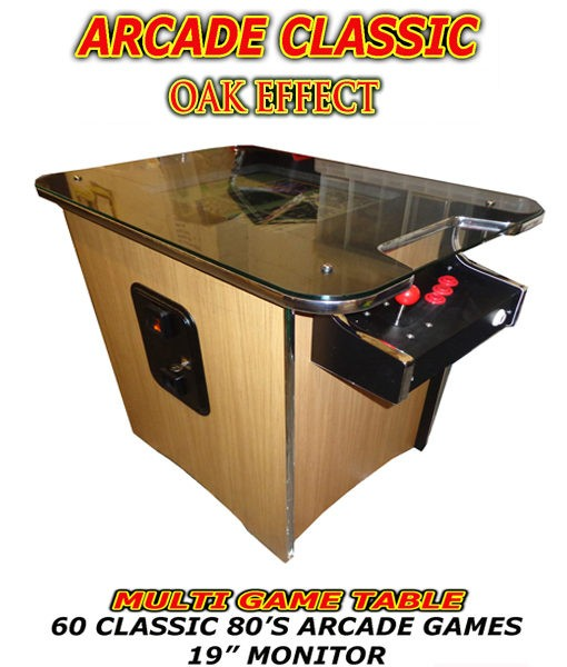 oak arcade table usa