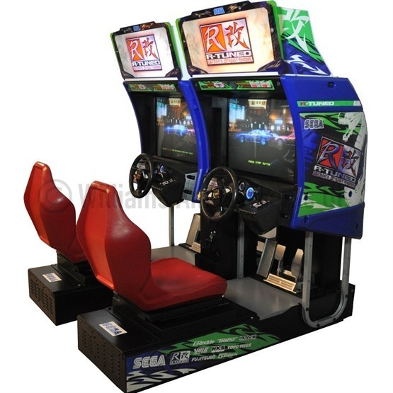 sega r tuned twin racing williams amusements