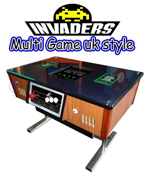 uk chrome invader arcade table