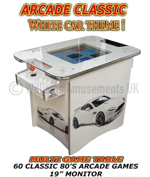 title arcade table machine car themed