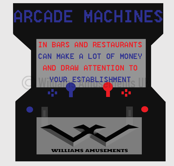 classic arcade machines in bars and restaurants